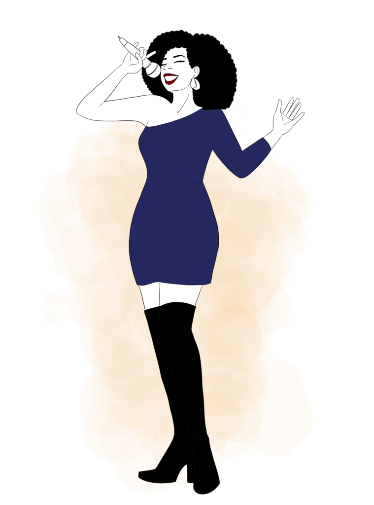 Illustration chanteuse