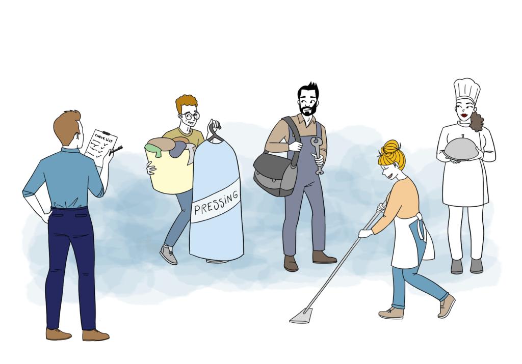Illustration des services a domicile